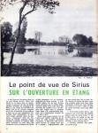 Sirius n° 7 « … sur l'ouverture en étang » (article paru dans l'ECHO DES PECHEURS, en mai 1971) dans L'ancêtre de 'La musette à Matthieu' Sirius-N°-7-mai-2012-page-1-111x150